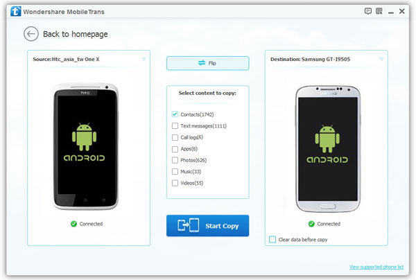 Transfer contacts from old Samsung Android phone to new phone