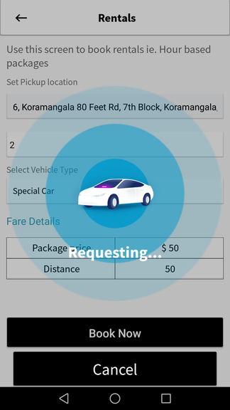 Uber clone script Hourly booking feature