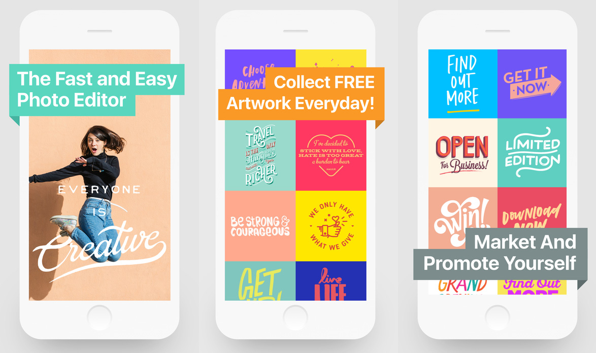 How to create a graphic poster using over app