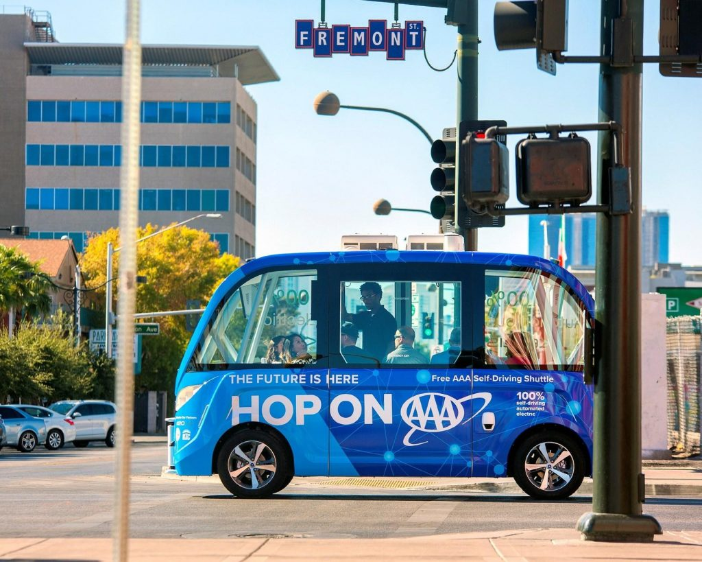 Las Vegas Gets Its First Self Driving Shuttle For Public Roads