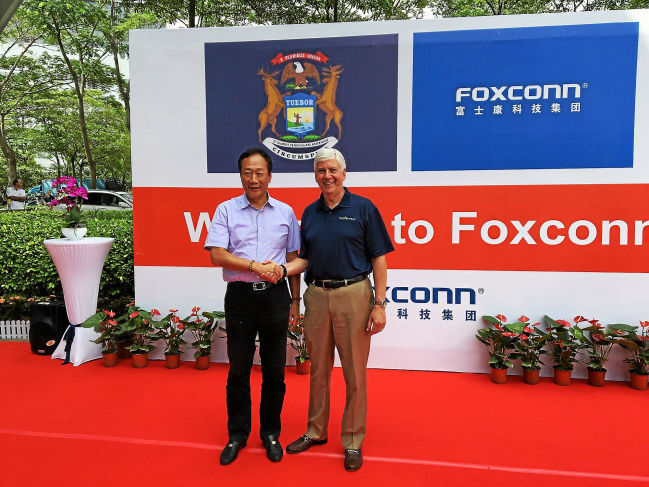 Report: Foxconn To Build A Self-Driving Facility In Michigan