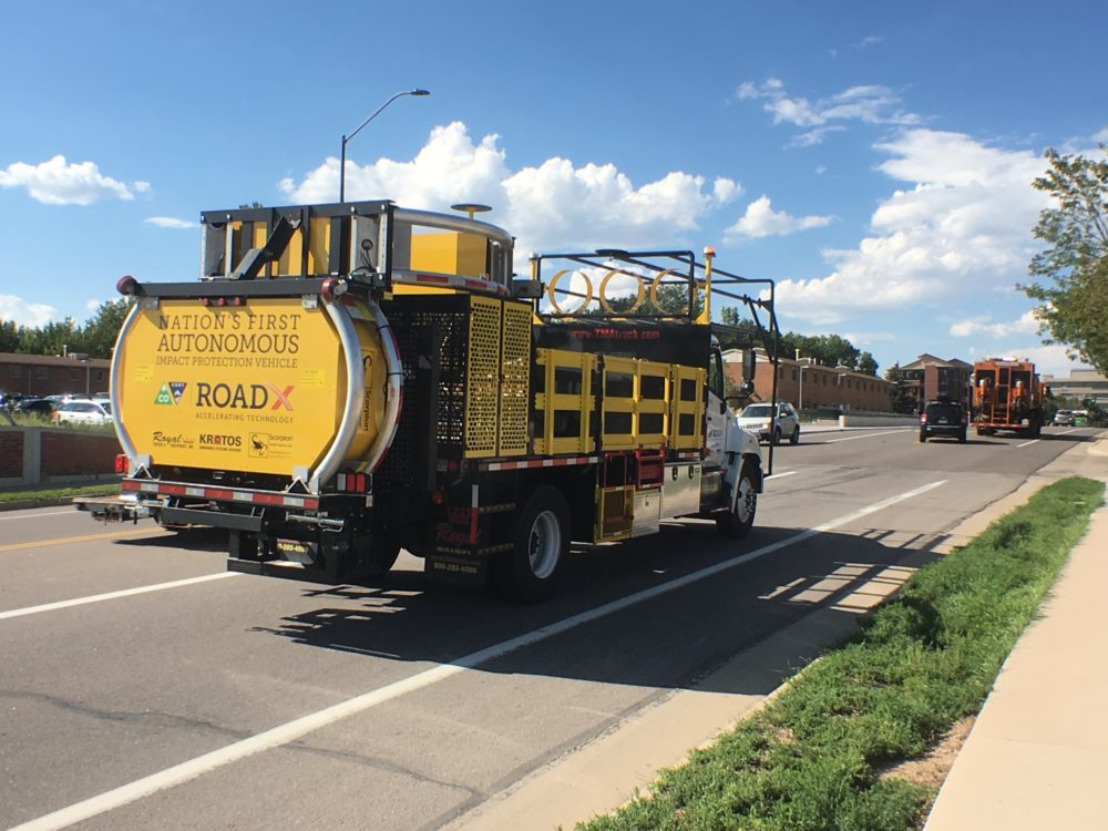 Colorado deploys driverless truck that's meant to absorb crashing cars