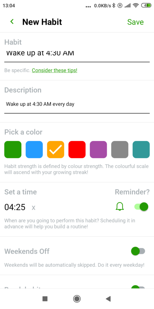 How to track habit with Habit tracker app Everyday 2.0?