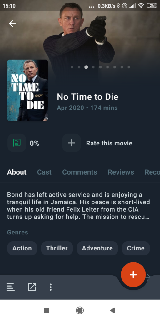 movie recommendations app