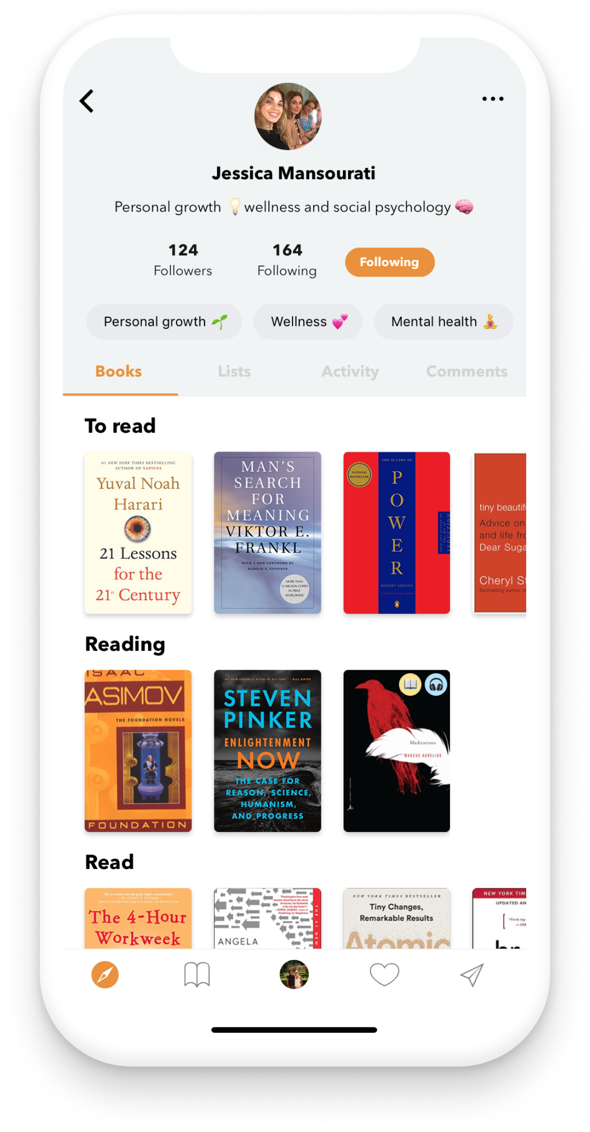 how to find new books to read with bookself app