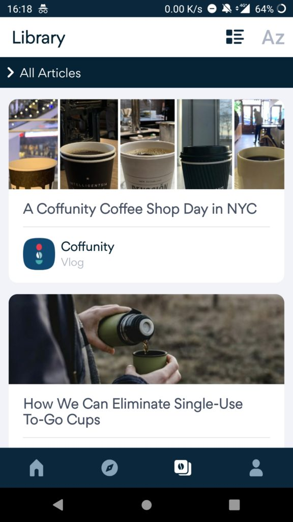 How to find different types of Coffee on Coffunity app?