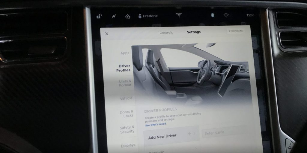 Tesla To Introduce – Cloud Based Driver Profiles